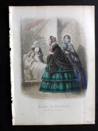 Journal des Demoiselles C1850 Antique Hand Col Fashion Print 29
